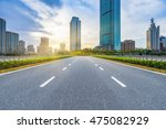 clean city road shanghai china. | Shutterstock . vector #475082929