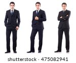 collage of businessman isolated ... | Shutterstock . vector #475082941