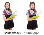 young student isolated on the... | Shutterstock . vector #475083064