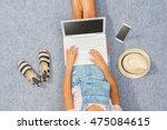 overhead shot of fashionable... | Shutterstock . vector #475084615