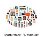 makeup and cosmetics products... | Shutterstock .eps vector #475085389