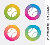 baseball ball sign icon. sport... | Shutterstock .eps vector #475088284