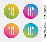 fork  knife  tablespoon sign... | Shutterstock .eps vector #475090681