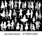 illustration with dancing child ... | Shutterstock .eps vector #475091569