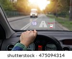 car equipped with head up the... | Shutterstock . vector #475094314