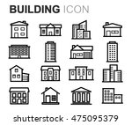 vector black line building... | Shutterstock .eps vector #475095379