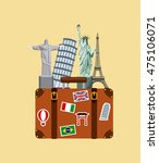 enjoy vacations travel isolated ... | Shutterstock .eps vector #475106071