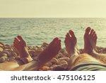 enjoying the sea   ocean with a ... | Shutterstock . vector #475106125
