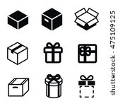 box vector icons. simple...