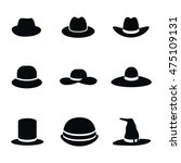 hat vector icons. simple... | Shutterstock .eps vector #475109131