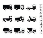 truck vector icons. simple...