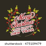 happy merry christmas card... | Shutterstock .eps vector #475109479