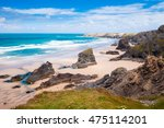 bedruthan steps in cornwall ...
