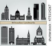 milwaukee landmarks and... | Shutterstock .eps vector #475114267