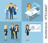 vector set of people  business  ... | Shutterstock .eps vector #475116667