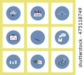 collection of icons in flat... | Shutterstock .eps vector #475118749