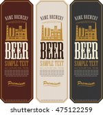 set of beer labels and the... | Shutterstock .eps vector #475122259
