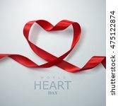 world heart day background.... | Shutterstock .eps vector #475122874