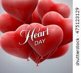 world heart day background.... | Shutterstock .eps vector #475123129