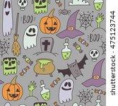 happy halloween print | Shutterstock .eps vector #475123744