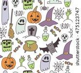 happy halloween print   Shutterstock .eps vector #475123747