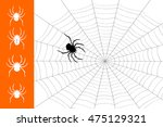 vector illustration of spider... | Shutterstock .eps vector #475129321