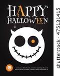 halloween party design template.... | Shutterstock .eps vector #475131415