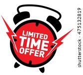 limited time offer red label... | Shutterstock .eps vector #475132819