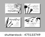 makeup artist business card....   Shutterstock .eps vector #475133749