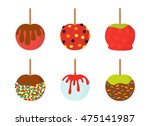 Apples And Sweets On Halloween. ...
