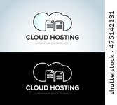 cloud hosting icon  cloud... | Shutterstock .eps vector #475142131