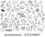 back to school themed doodle...   Shutterstock .eps vector #475145857