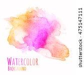 vector watercolor background.... | Shutterstock .eps vector #475147111
