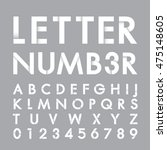 alphabetic fonts and numbers | Shutterstock .eps vector #475148605