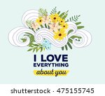 vector illustration of floral... | Shutterstock .eps vector #475155745