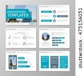 set of blue template for... | Shutterstock .eps vector #475156051