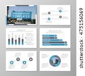 set of blue template for... | Shutterstock .eps vector #475156069