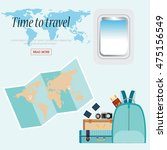 time to travel conceptual with... | Shutterstock .eps vector #475156549