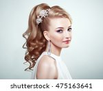 fashion portrait of young... | Shutterstock . vector #475163641