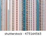 facade building of skyscraper | Shutterstock . vector #475164565