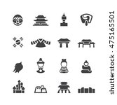 south korea icons set vector | Shutterstock .eps vector #475165501