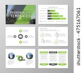 set of gray and green template... | Shutterstock .eps vector #475167061