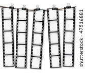 film strips hanging out to dry | Shutterstock .eps vector #47516881