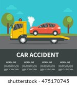 car accident concept... | Shutterstock .eps vector #475170745
