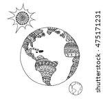 vector illustration earth.... | Shutterstock .eps vector #475171231