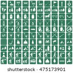 set of camping equipment icons. ... | Shutterstock .eps vector #475173901