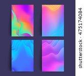 fluid colors covers set. good... | Shutterstock .eps vector #475174084