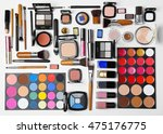 decorative cosmetics on white... | Shutterstock . vector #475176775
