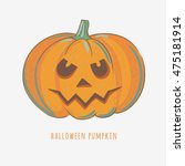 halloween carved pumpkin... | Shutterstock .eps vector #475181914