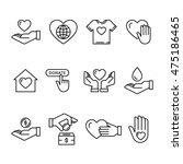 vector graphic flat icon set... | Shutterstock .eps vector #475186465